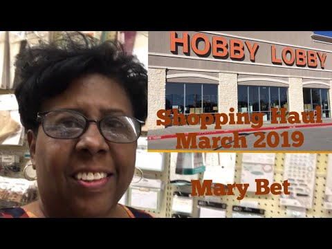 Mary Bet's Hobby Lobby Shopping Haul | 50% Off all Paper Crafts