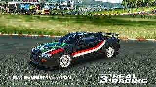 REAL RACING 3 CAR CUSTOMISATION - NISSAN SKYLINE GTR V-SPEC (R34)