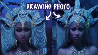 "[Digital PaintingTimelapse] Nicki Minaj ""Hard White"" Video"