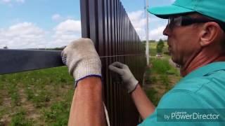как сделать ровный забор из профнастила