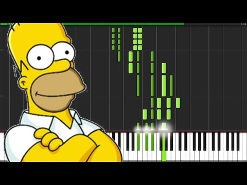 The Simpsons Theme [Piano Tutorial] (Synthesia)
