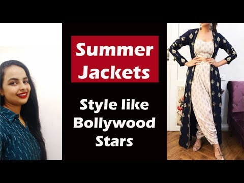 Long and Short Jackets shrugs How to wear and style them in Summers  In Hindi English subtitles