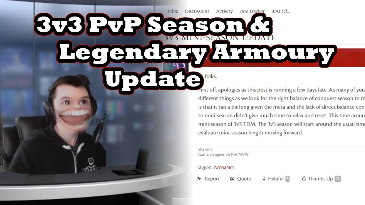 5-22-20 Guild Wars 2 News: 3v3 PvP Season & Legendary Armory Update thumbnail