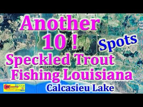 Speckled Trout Fishing Louisiana - Another 10 Calcasieu Lake Spots !