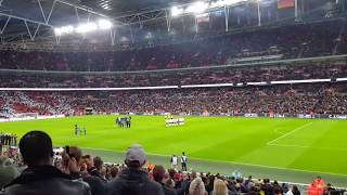Last Post played at Wembley Football match (England vs Germany)