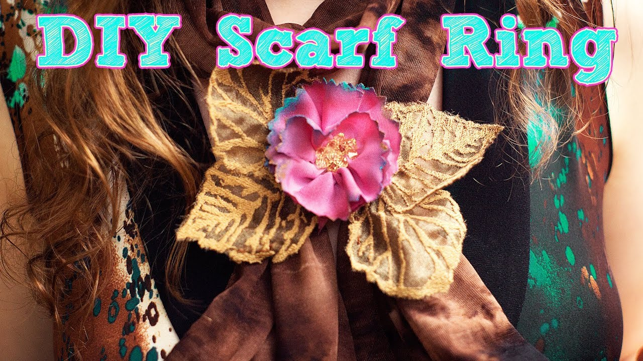 HOW TO MAKE A FABRIC SCARF RING | DECORATIVE SCARF HOLDER DIY CRAFT |  DAMSELS IN DIY GIFT IDEAS