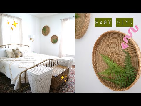 A 𝙈𝘼𝙅𝙊𝙍 Bedroom Makeover! | Two Easy Wall Art DIY's