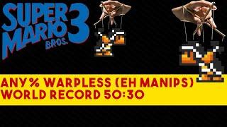 [WR] Super Mario Bros. 3 Any% Warpless Speedrun in 50:30