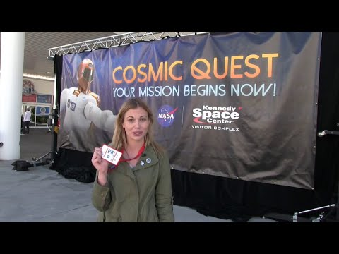 Cosmic Quest interactive game at Kennedy Space Center Visitor Complex