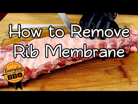 How To Remove The Rib Membrane | How To Tenderize Ribs | Everyday BBQ