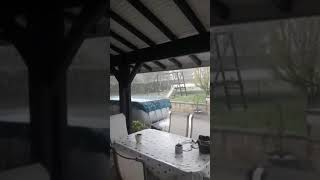 Orage grêle Baignes