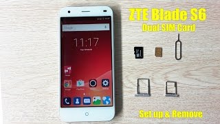 【ZTE Blade S6】 How to use a eject tool to set up and remove Dual SIM Card of ZTE Blade S6