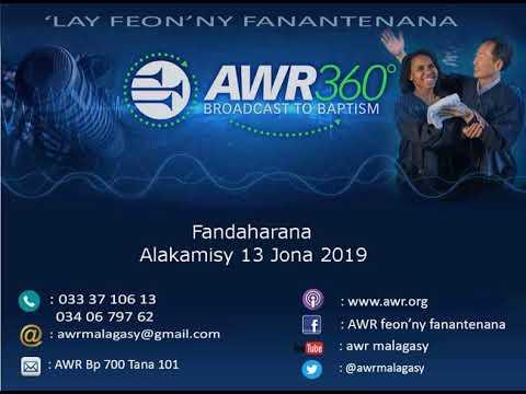 Fandaharana AWR Teny Gasy Alakamisy 13Juin2019