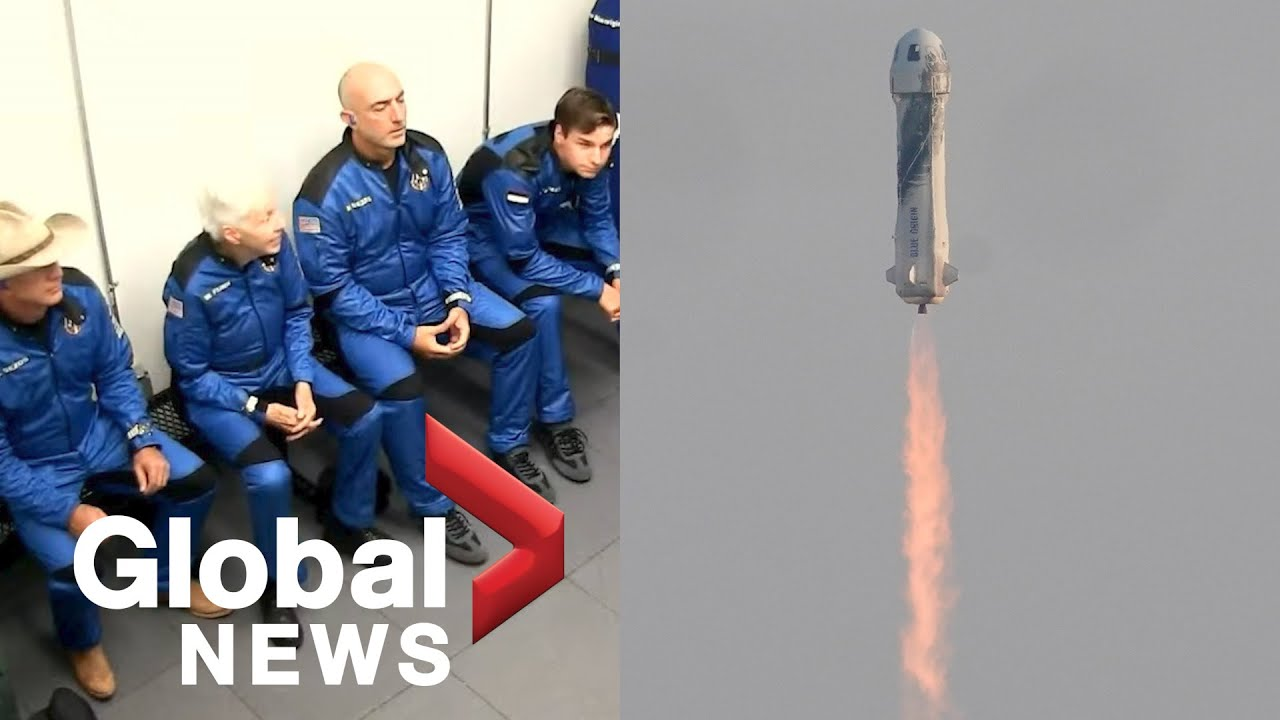 Liftoff! Jeff Bezos And Three Crewmates Travel To Space And Back ...
