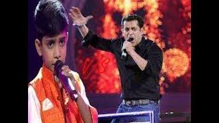 Muhammad fazil | Rocking Performance | With Salman Khan | &TV | The voice India Kids