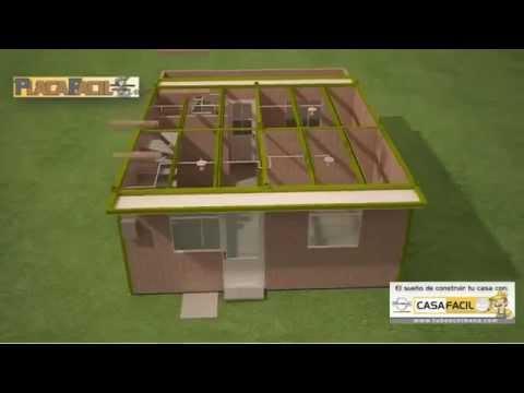 Casa f cil tubos colmena youtube - Estructuras de acero para casas ...