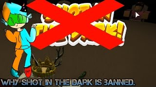Sit down and talk about Roblox games- why I think Shot in the dark is banned from Roblox!