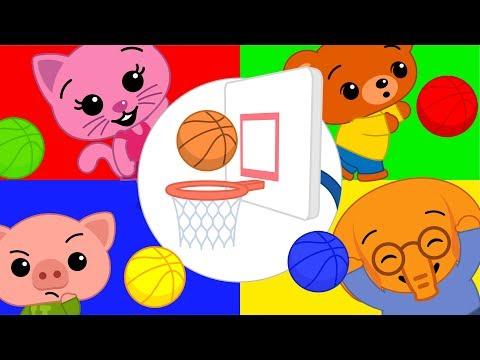 Jugando al Basketball con Balones de Colores   Súper Torneo con Plim Plim #2