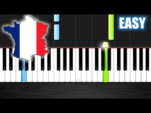 La Marseillaise - National Anthem of France - EASY Piano Tutorial by PlutaX - Synthesia