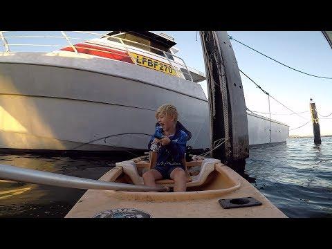 Canoe Fishing Around Boat Pens Perth Western Australia