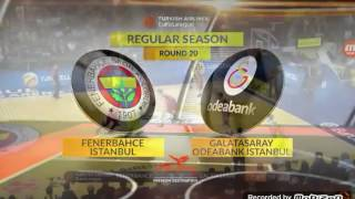 Fenerbahce Istanbul - Galatasaray Odeabank Istanbul 85-80 Euroleague Highlights {26/1/2017}