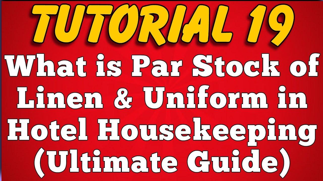 Par Stock of Hotel Linen & Uniform