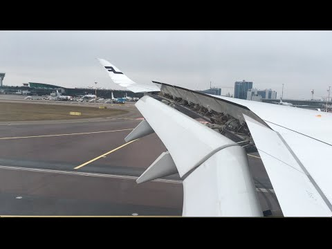 Finnair Airbus A350-900 Amazing Landing at Helsinki Vantaa Airport