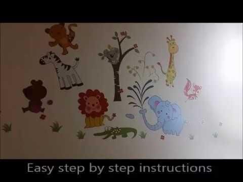 K8&EM animal wall decals, zoo animal wall stickers, kids room decor, wall decor, simple ideas