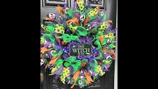 How to make a Halloween Wreath in Poof And Ruffles
