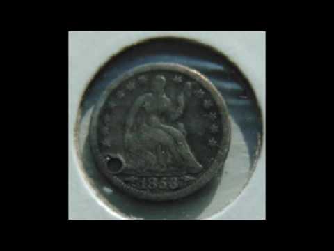 USA 1853 Half Dime Coin
