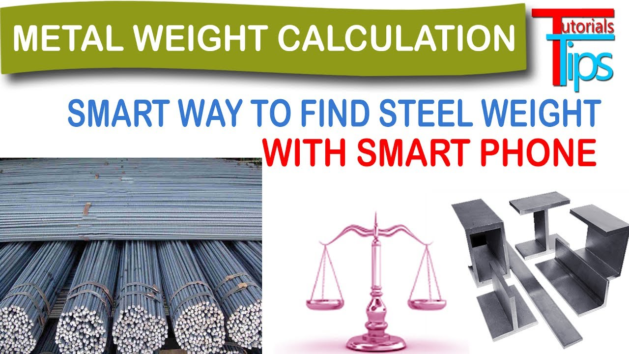 How To Calculate Weight Of Steel Bar All Type Metal Calculator Estimate