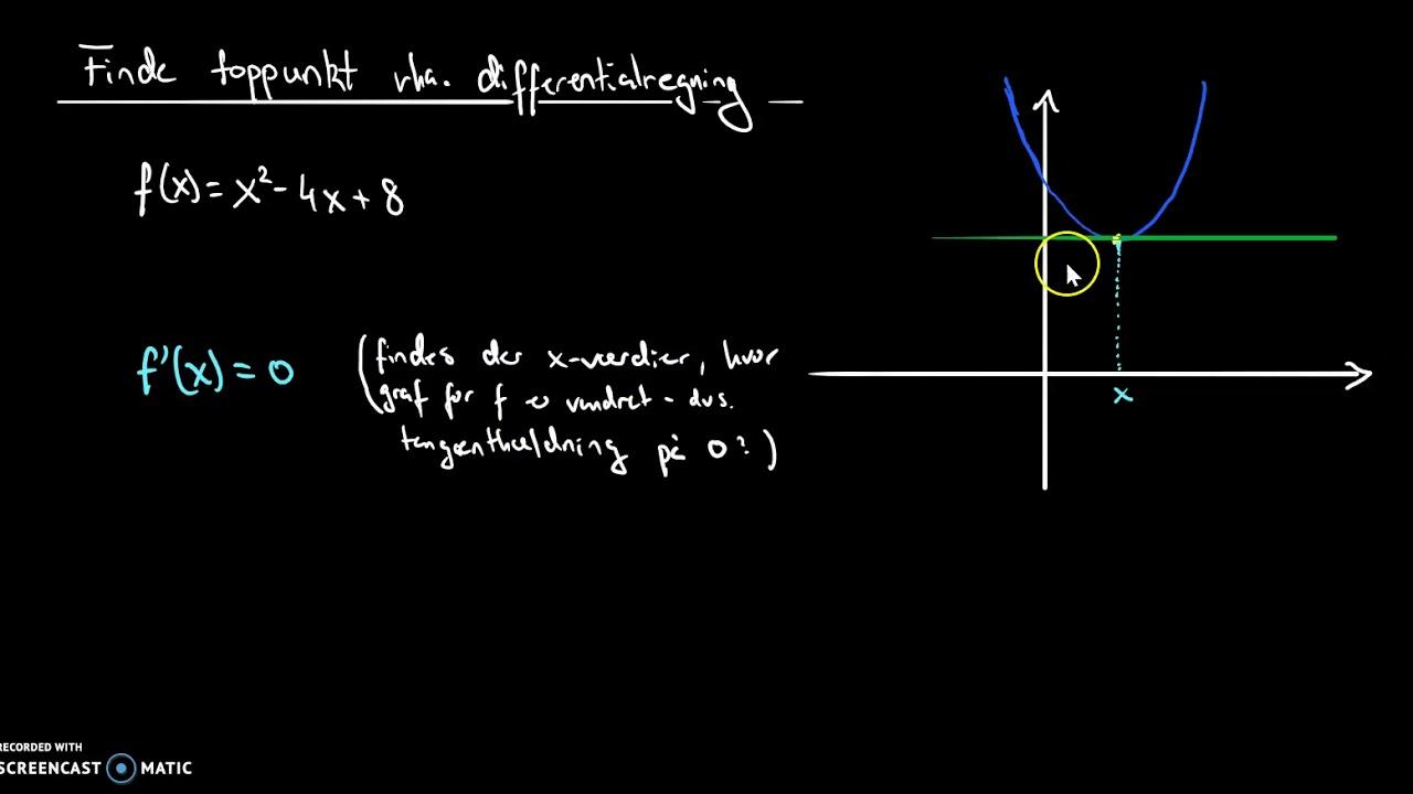 toppunkt vha differentialregning