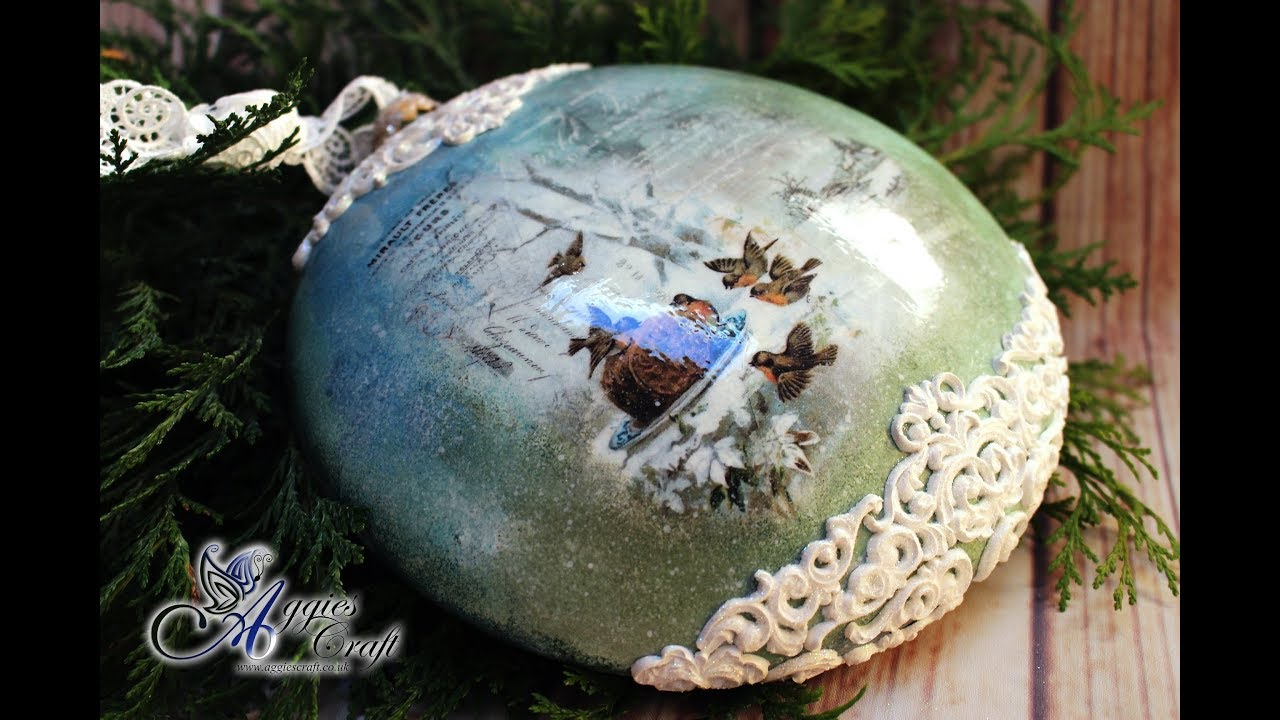 Decoupage Tutorial , Medallion with ornaments , DIY