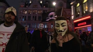 London anti-capitalist march spirals into violence