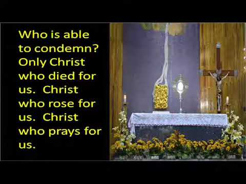 VESPERS at Sta. Cruz Church, Manila  HYMN: ROMANS 8
