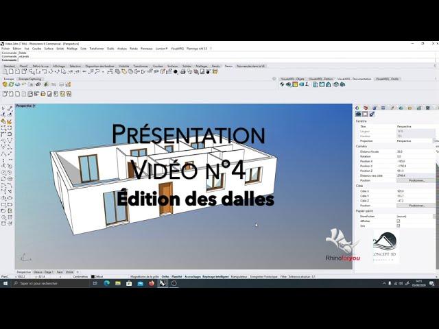Présentation VisualArq Vidéo n°4