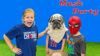 Assistant and BatBoy Mask Masquerade Party with Paw Patrol and PJ Masks and Officer Smalls