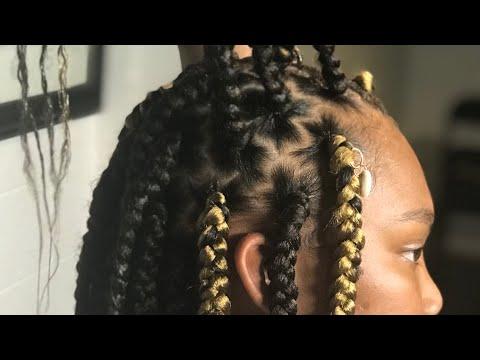 Zig-zag box braids 😍