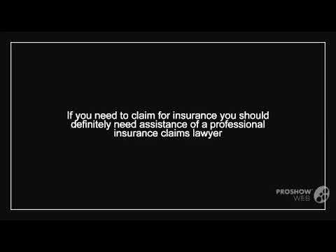 Hire a Professional Insurance Claims Lawyer for Receiving Financial Compensation