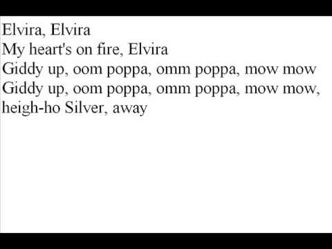 elvira oak ridge boys lyrics