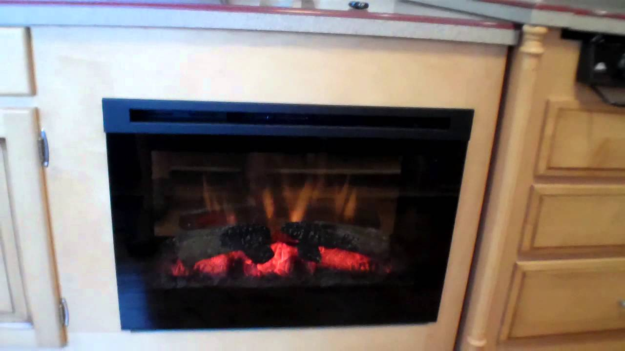 Power Lift TV Cabinet with Fireplace 07 Dutchstar - YouTube
