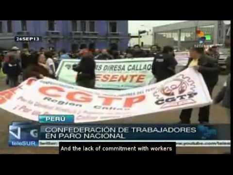 Peru's largest trade union begins general strike