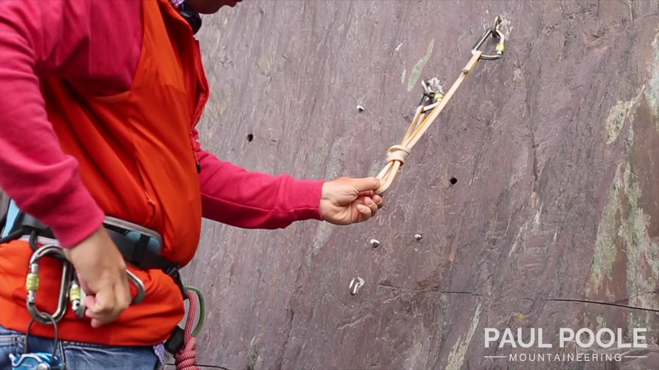 Building a Climbing belay with a sling to 2 anchor points