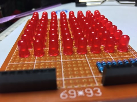 How To Build LED Matrix 8x8 Step By Step
