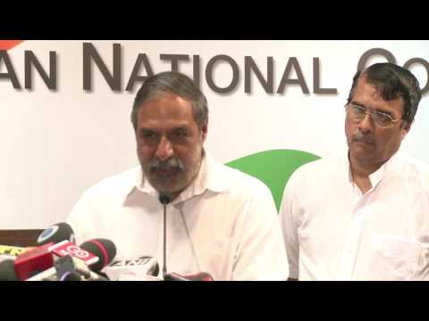 AICC Media Byte by Anand Sharma at Congress HQ, June 30, 2017