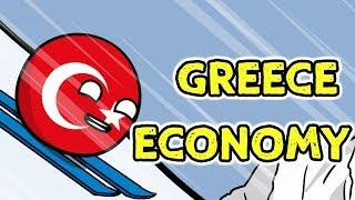 Floor is lava | Greece economy - Countryballs