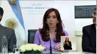 """CFK: """"El glifosato es el fertilizante por excelencia en la siembra de soja"""""""
