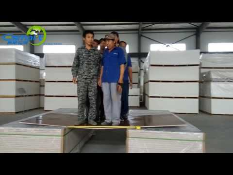 15mm E-Smart Magnesium Mineral Board Strength Test Video