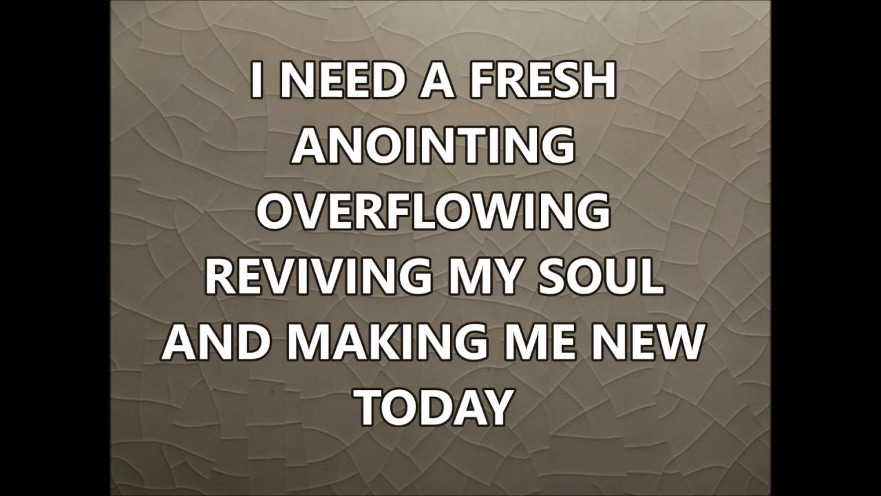 Holy Spirit/Fresh Anointing Medley Wayne & Elizabeth Goodine