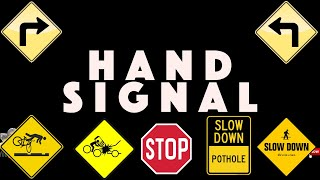 CYCLIST HAND SIGNAL   FIXED GEAR, ROAD BIKE & MOUNTAIN BIKE